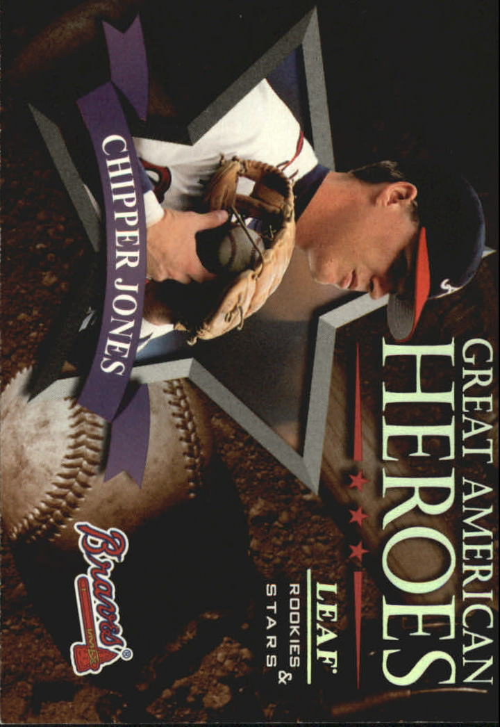 1998 Leaf Rookies and Stars Great American Heroes #7 Chipper Jones