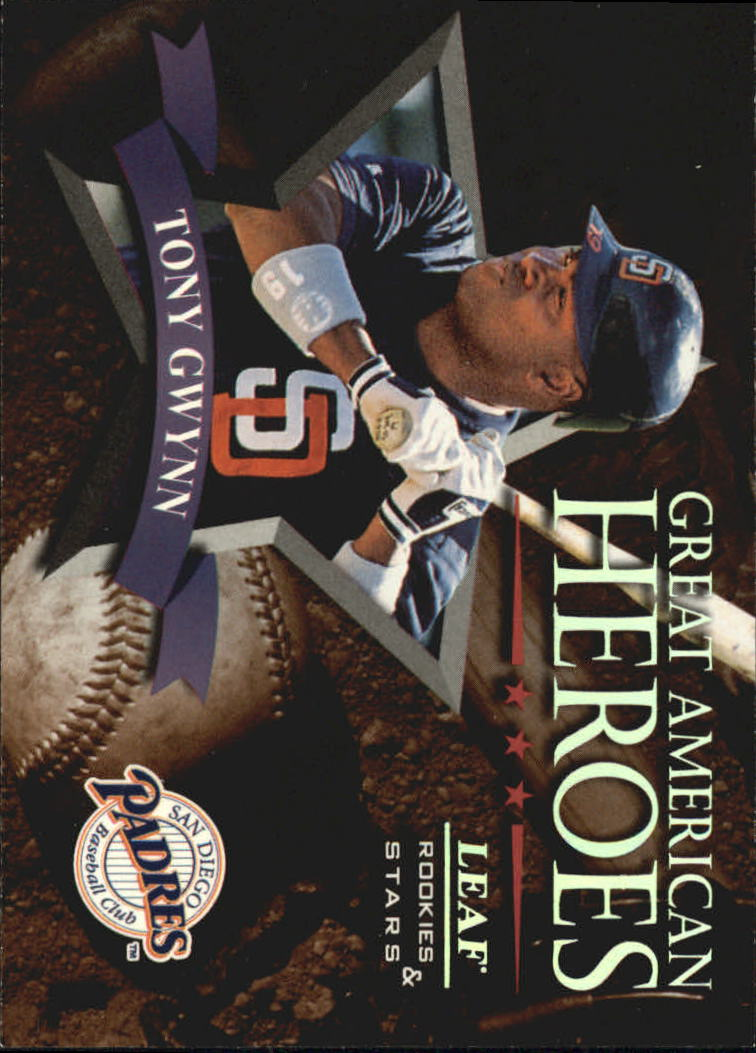 1998 Leaf Rookies and Stars Great American Heroes #8 Tony Gwynn