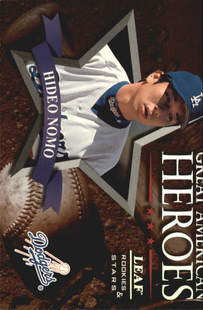 1998 Leaf Rookies and Stars Great American Heroes #11 Hideo Nomo