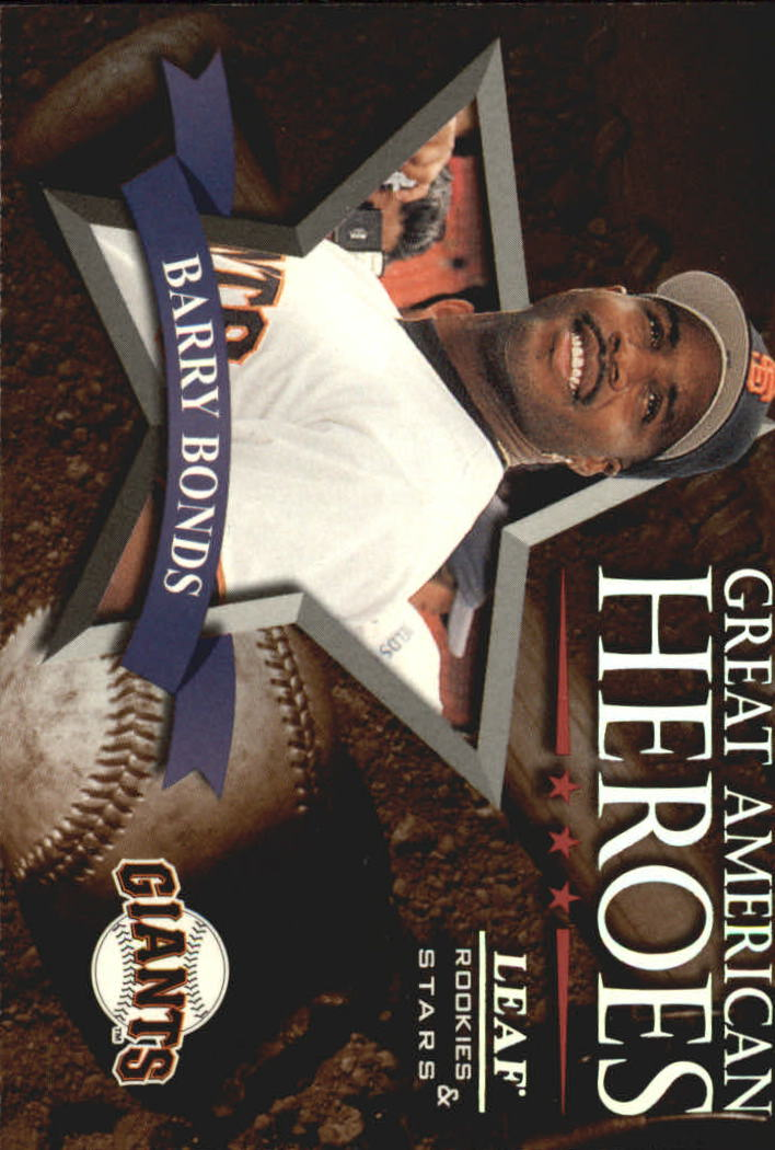 1998 Leaf Rookies and Stars Great American Heroes #14 Barry Bonds