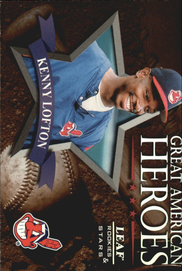 1998 Leaf Rookies and Stars Great American Heroes #15 Kenny Lofton