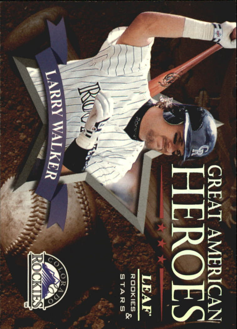 1998 Leaf Rookies and Stars Great American Heroes #16 Larry Walker