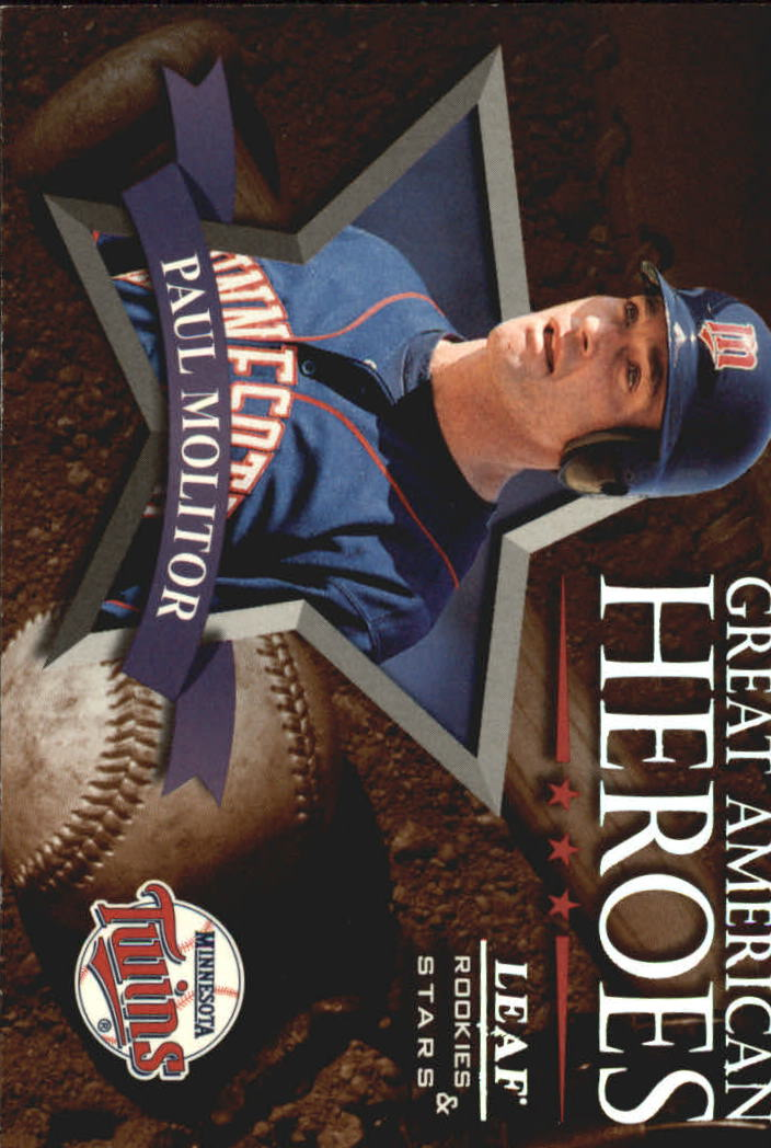 1998 Leaf Rookies and Stars Great American Heroes #17 Paul Molitor