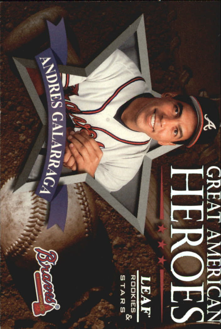 1998 Leaf Rookies and Stars Great American Heroes #20 Andres Galarraga