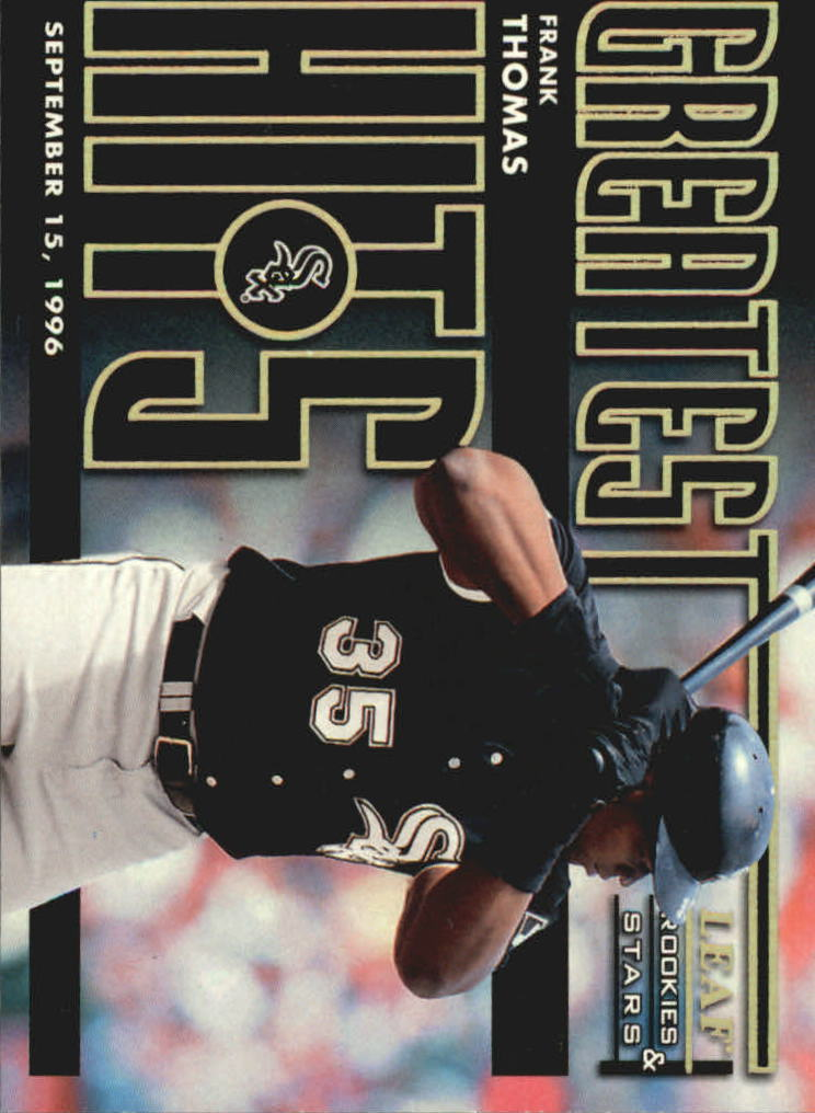 1998 Leaf Rookies and Stars Greatest Hits #2 Frank Thomas