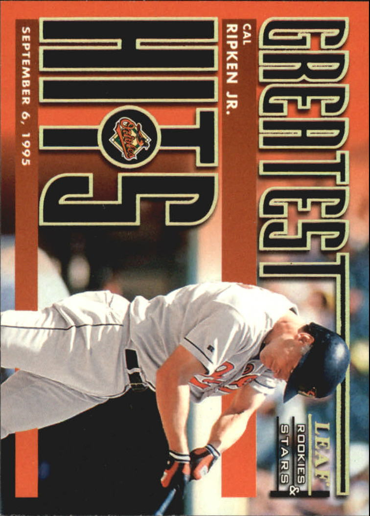 1998 Leaf Rookies and Stars Greatest Hits #3 Cal Ripken