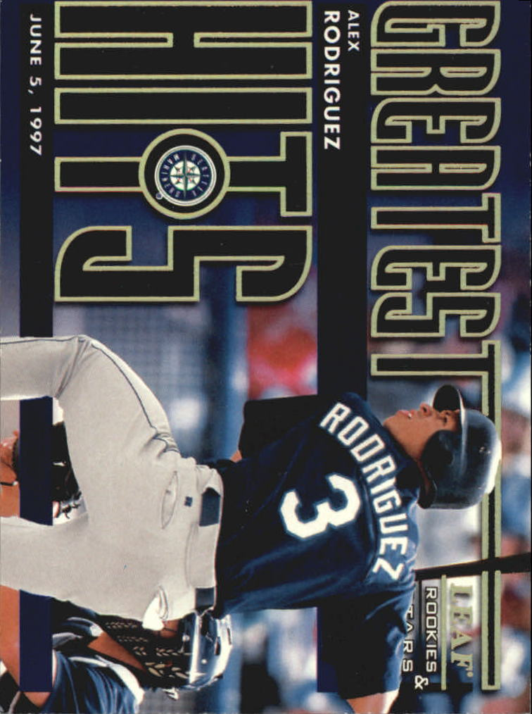 1998 Leaf Rookies and Stars Greatest Hits #4 Alex Rodriguez