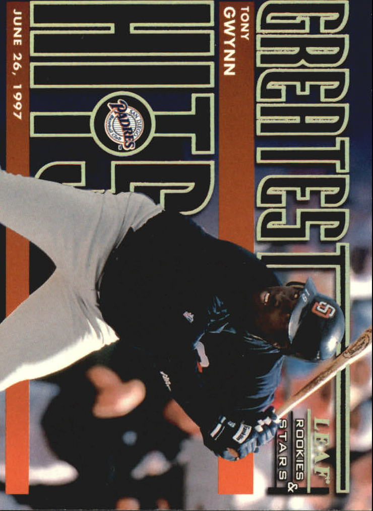 1998 Leaf Rookies and Stars Greatest Hits #8 Tony Gwynn