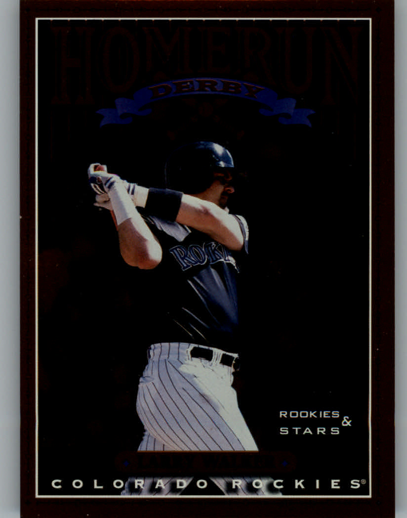 1998 Leaf Rookies and Stars Home Run Derby #3 Larry Walker