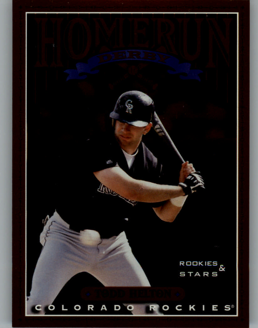 1998 Leaf Rookies and Stars Home Run Derby #10 Todd Helton