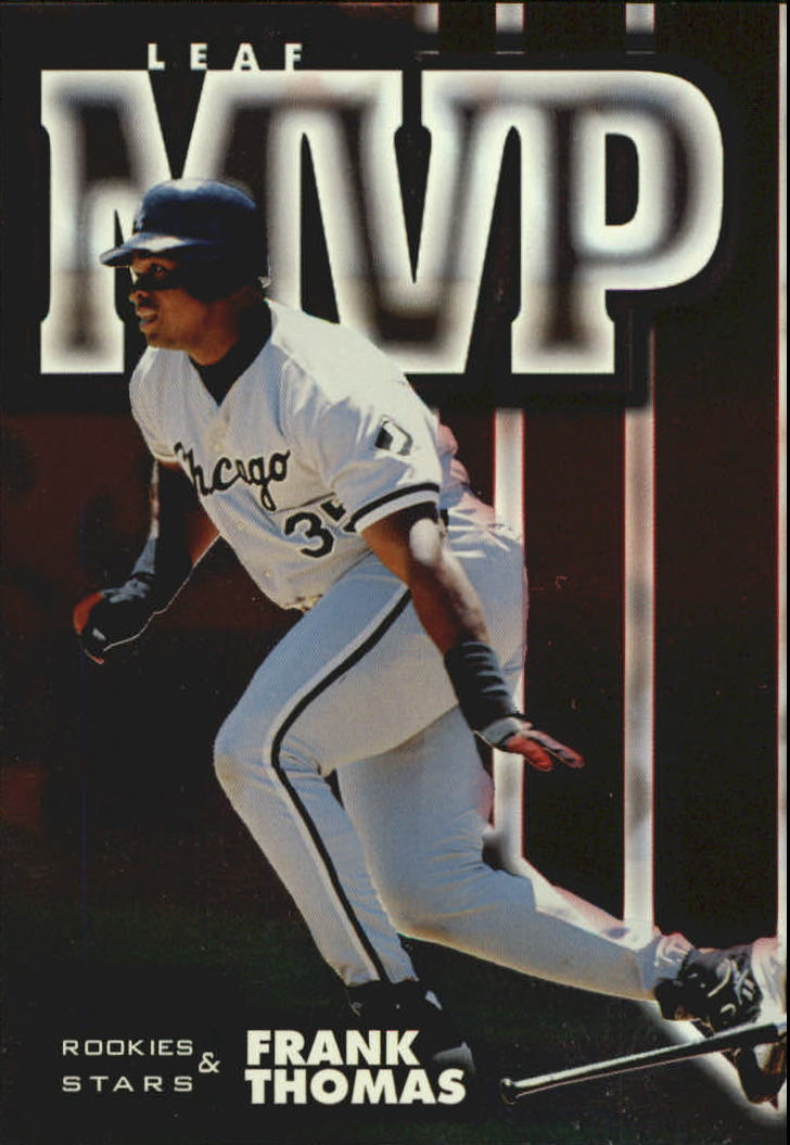 1998 Leaf Rookies and Stars Leaf MVP's #1 Frank Thomas