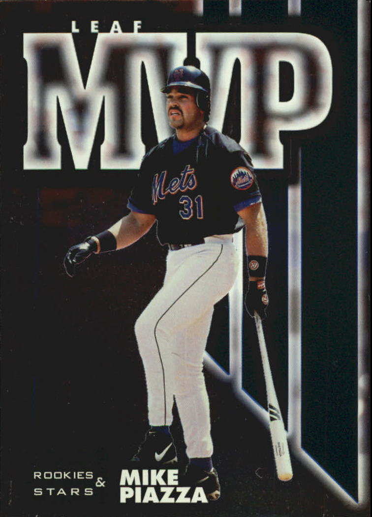 1998 Leaf Rookies and Stars Leaf MVP's #15 Mike Piazza