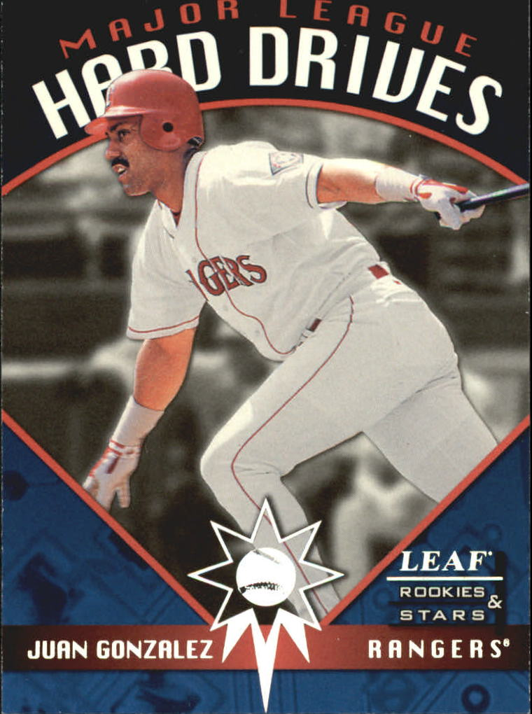 1998 Leaf Rookies and Stars Major League Hard Drives #2 Juan Gonzalez