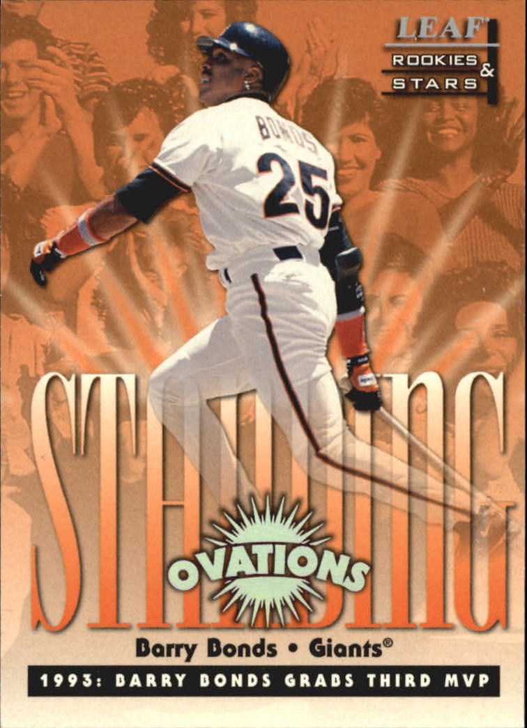 1998 Leaf Rookies and Stars Standing Ovations #1 Barry Bonds