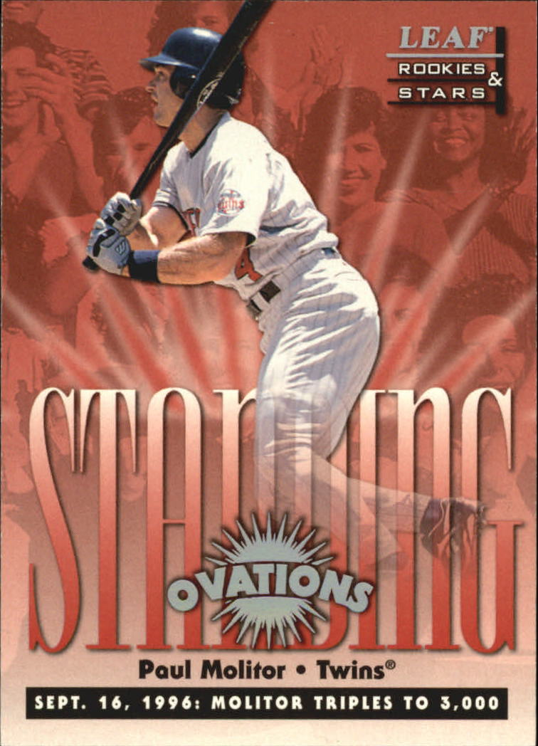 1998 Leaf Rookies and Stars Standing Ovations #9 Paul Molitor