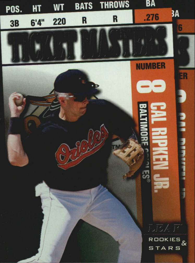 1998 Leaf Rookies and Stars Ticket Masters #3 C.Ripken/R.Alomar