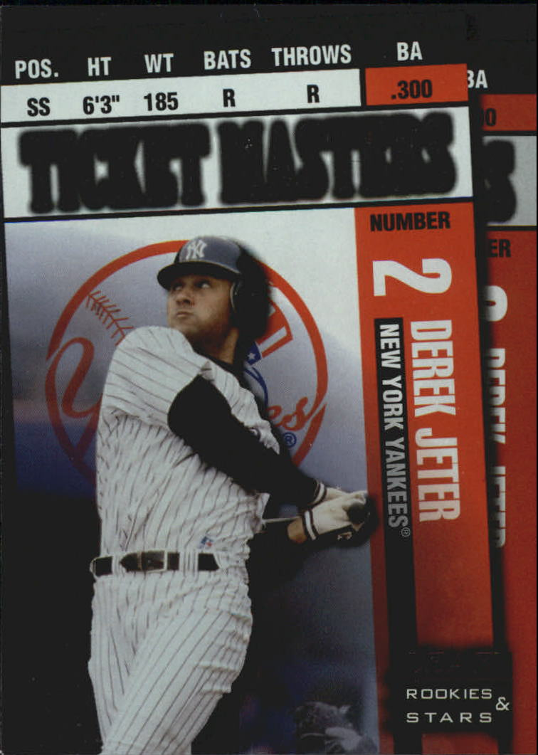 1998 Leaf Rookies and Stars Ticket Masters #6 D.Jeter/A.Pettitte