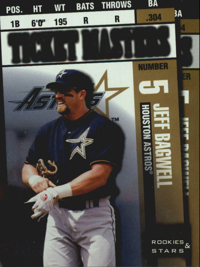 1998 Leaf Rookies and Stars Ticket Masters #7 J.Bagwell/C.Biggio