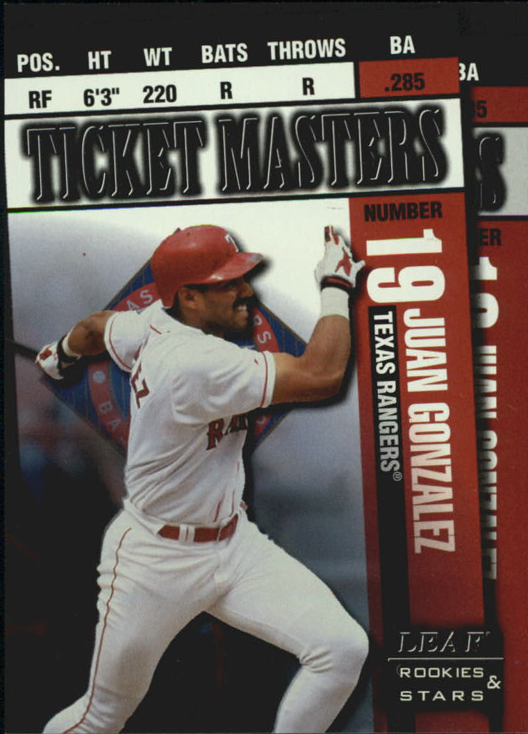 1998 Leaf Rookies and Stars Ticket Masters #8 J.Gonzalez/I.Rodriguez