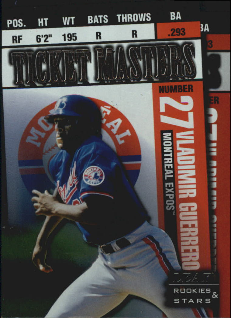 1998 Leaf Rookies and Stars Ticket Masters #10 V.Guerrero/B.Fullmer