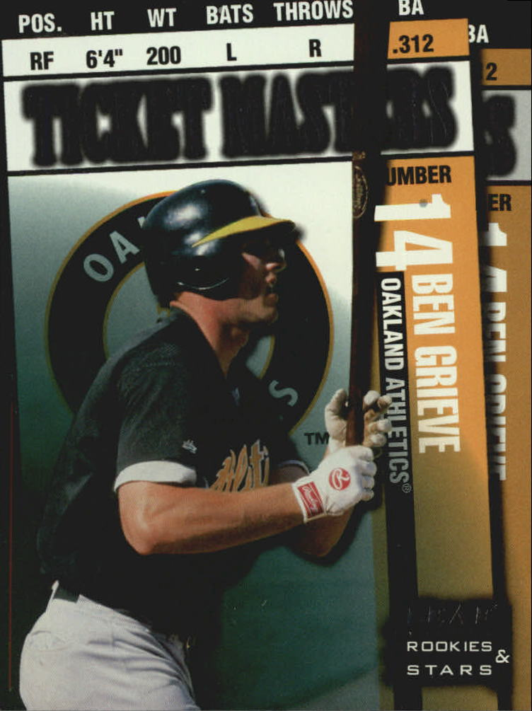 1998 Leaf Rookies and Stars Ticket Masters #20 B.Grieve/J.Giambi