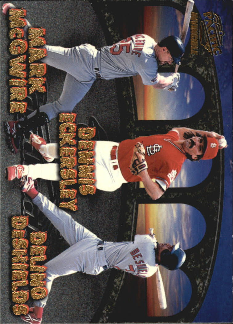 1998 Pacific Invincible Team Checklists #23 M.McGwire/Lankford/Eck