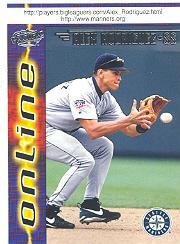 1998 Pacific Online Web Cards #693A Alex Rodriguez Fielding