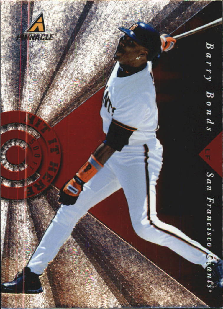 1998 Pinnacle Hit It Here #5 Barry Bonds