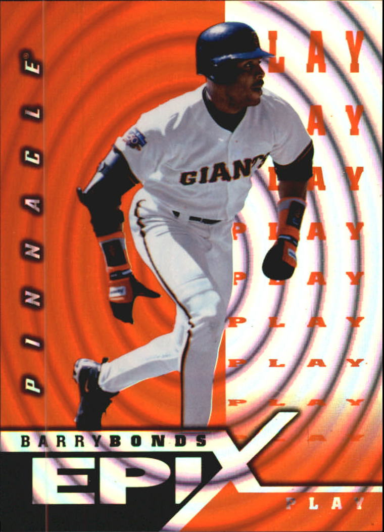 1998 Pinnacle Epix Play Orange #E22 Barry Bonds
