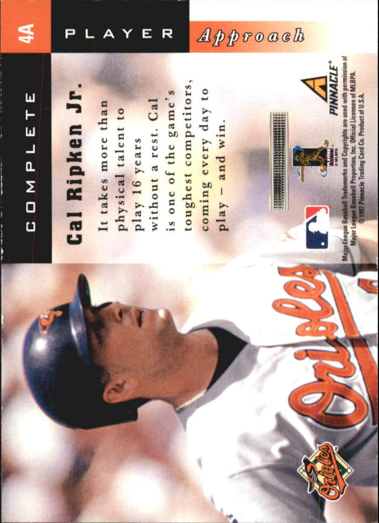 1998 Score Complete Players #4A Cal Ripken back image