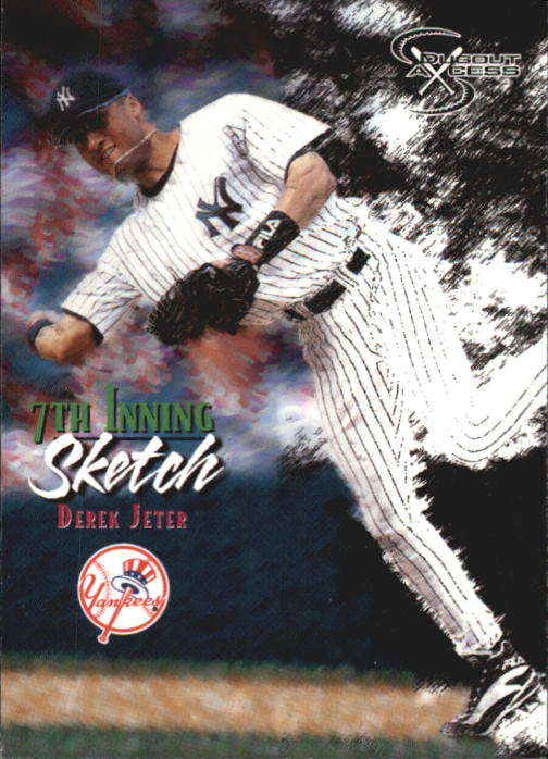 1998 SkyBox Dugout Axcess #124 Derek Jeter 7TH