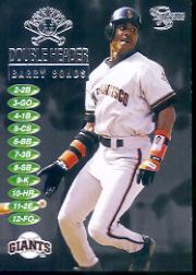 1998 SkyBox Dugout Axcess Double Header #DH3 Barry Bonds