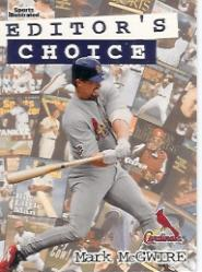 1998 Sports Illustrated Editor's Choice #EC4 Mark McGwire
