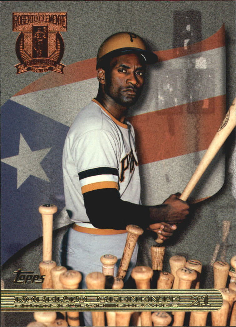 1998 Topps Clemente Tribute #RC1 Roberto Clemente/Picking Bat from Rack