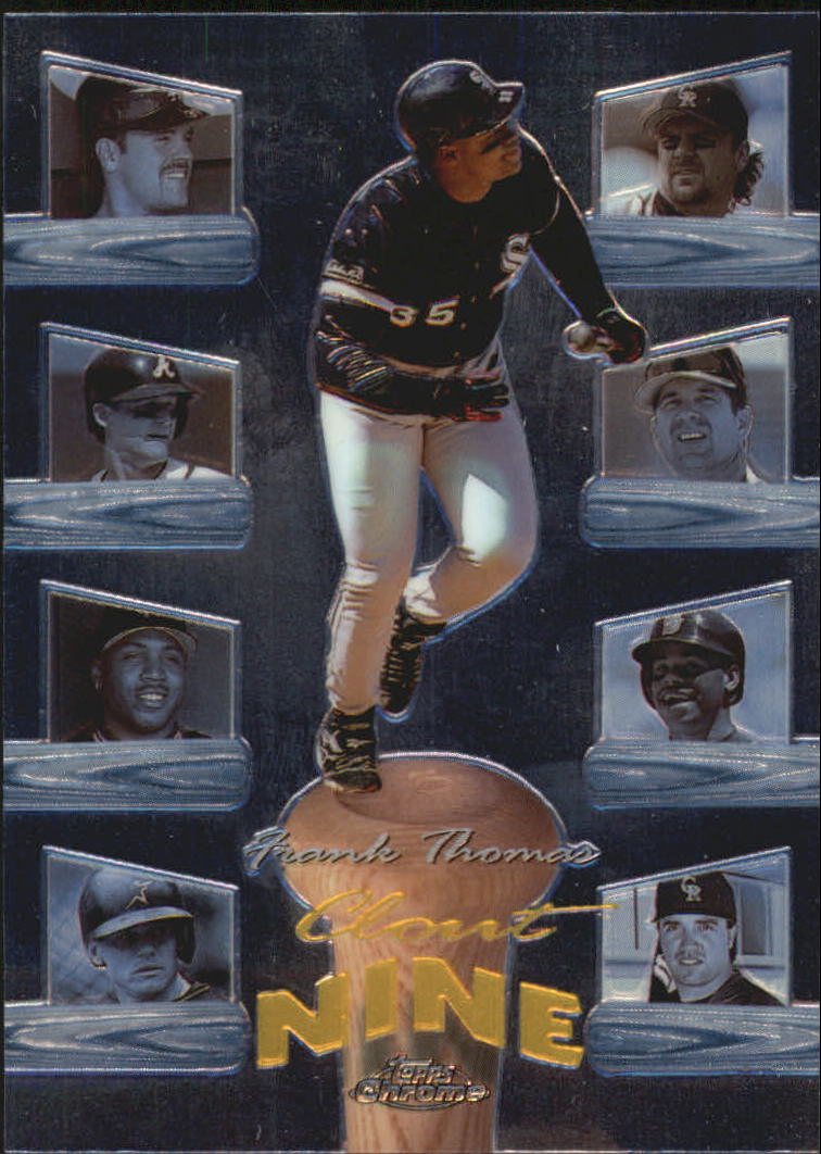 1998 Topps Chrome Clout Nine #C3 Frank Thomas