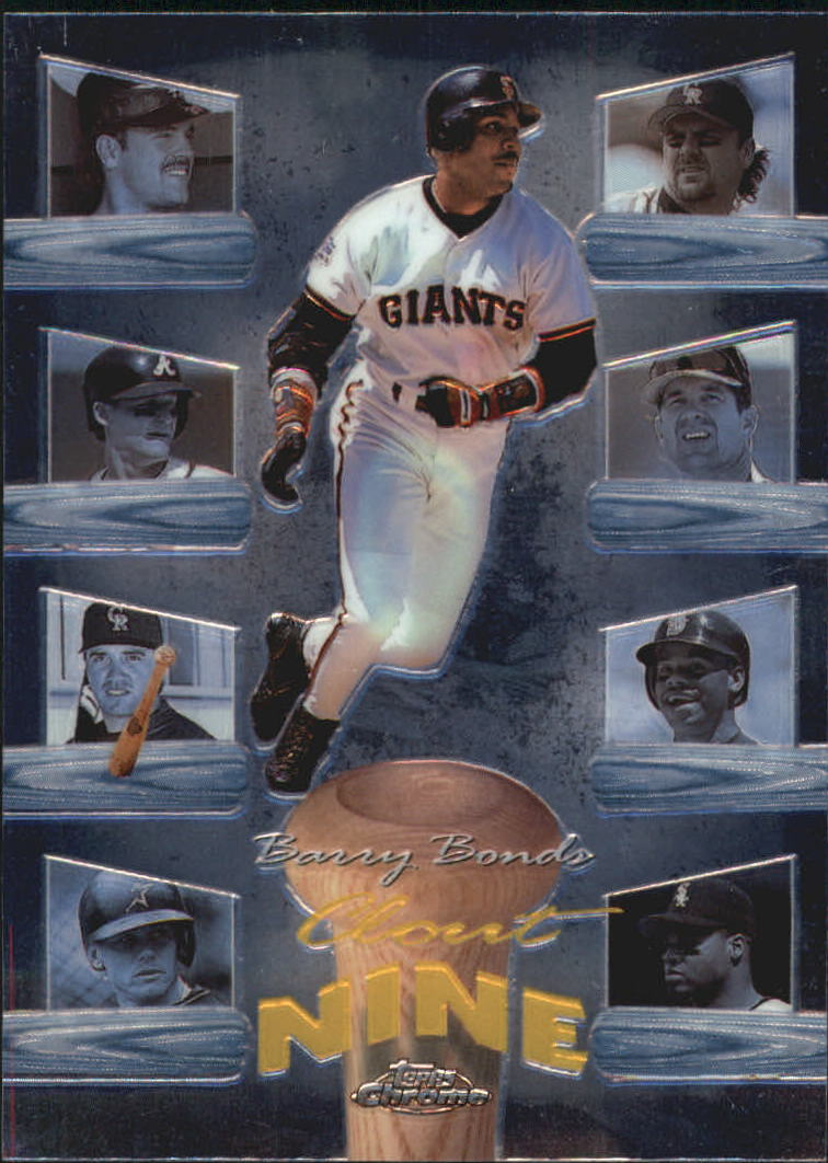 1998 Topps Chrome Clout Nine #C7 Barry Bonds