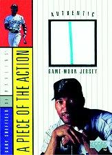 1998 Upper Deck A Piece of the Action 1 #8 Alex Rodriguez Jersey