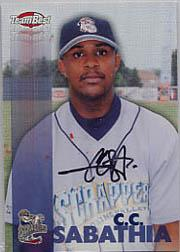 1999 Team Best Autographs #57 C.C. Sabathia TP