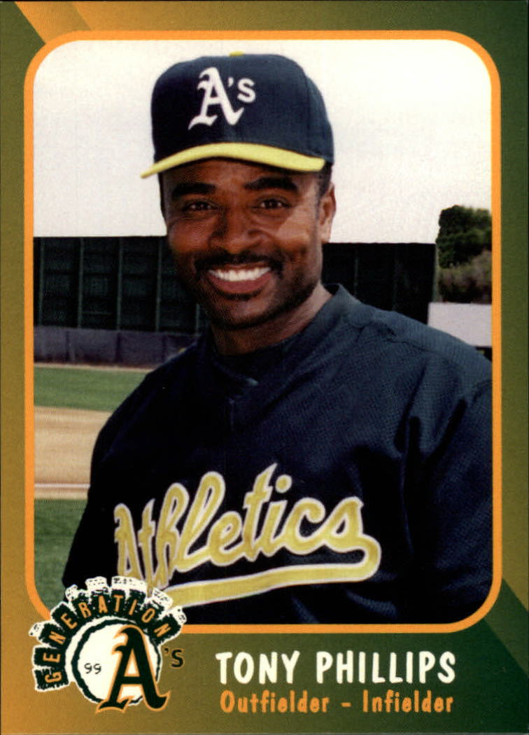 1999 A's Plumbers Union #7 Tony Phillips
