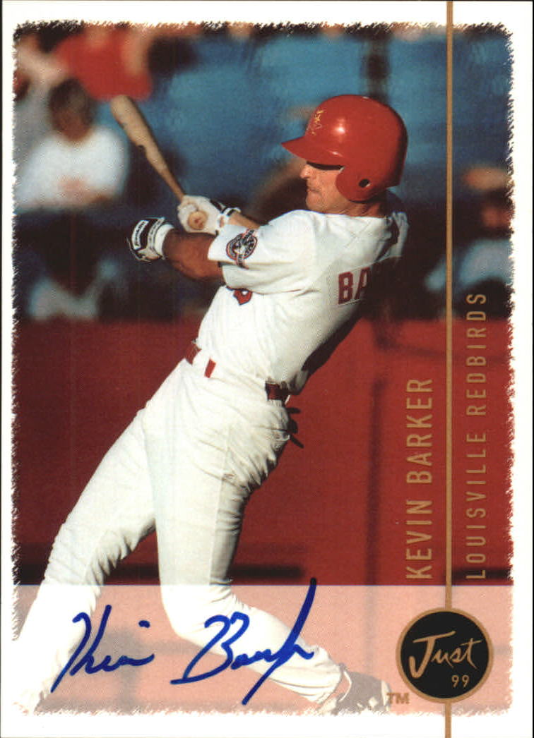 1999 Just Autographs #13 Kevin Barker PV