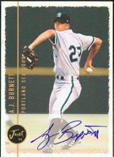 1999 Just Autographs #22 A.J. Burnett PV