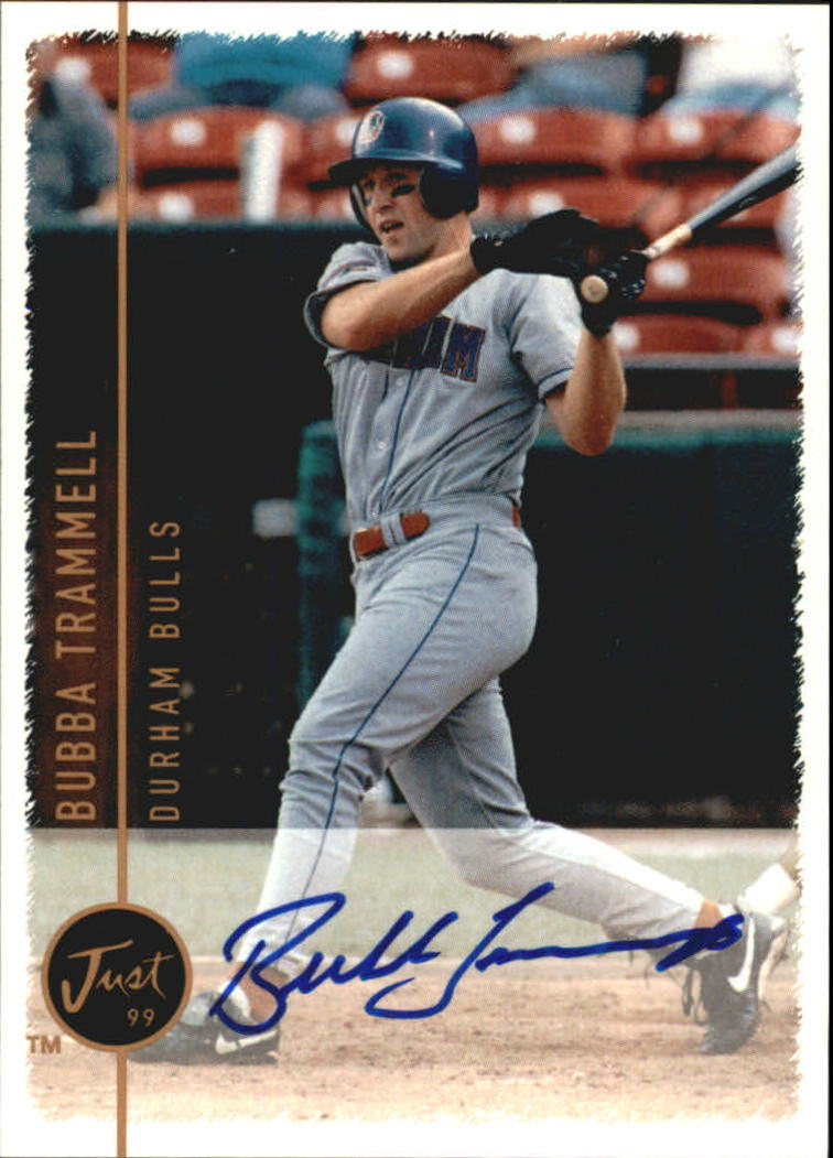 1999 Just Autographs #117 Bubba Trammell IM