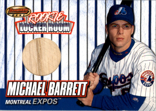 1999 Bowman's Best Rookie Locker Room Game Used Bats #RB2 Michael Barrett