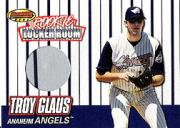 1999 Bowman's Best Rookie Locker Room Game Worn Jerseys #RJ3 Troy Glaus