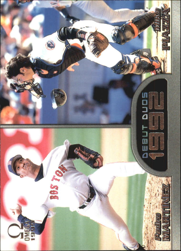 1999 Pacific Omega Debut Duos #5 Pedro Martinez/Mike Piazza
