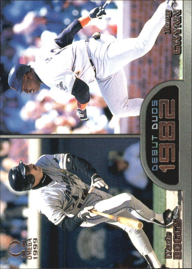 1999 Pacific Omega Debut Duos #10 Wade Boggs/Tony Gwynn
