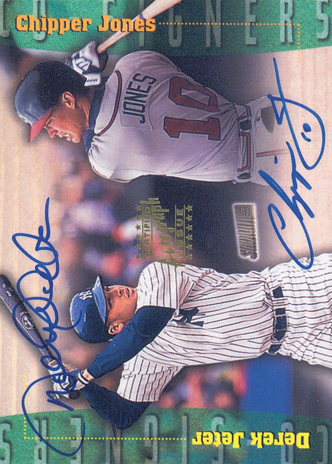 1999 Stadium Club Co-Signers #CS4 Derek Jeter/Chipper Jones D