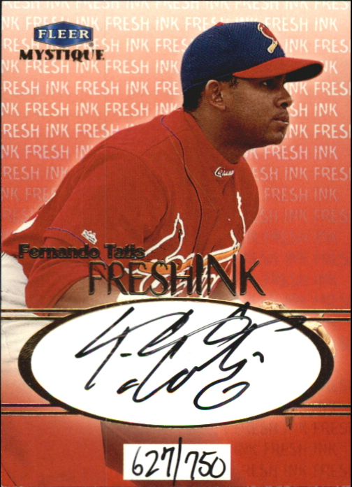 1999 Fleer Mystique Fresh Ink #24 Fernando Tatis/750