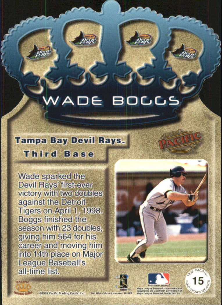 1999 Pacific Gold Crown Die Cuts #15 Wade Boggs back image