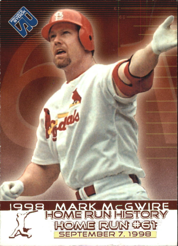 1999 Private Stock Home Run History #1 Mark McGwire 61